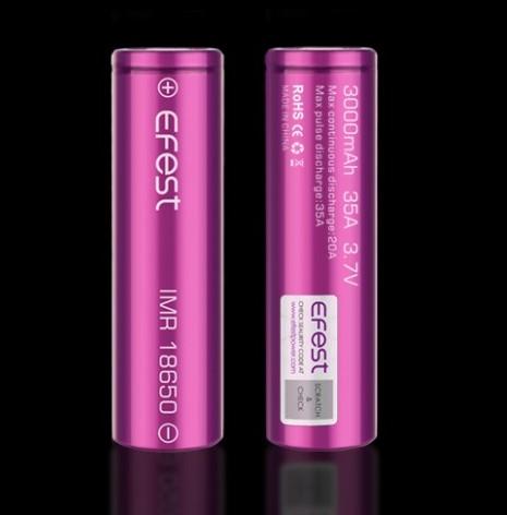 Batería Efest 18650 3000mAh 35A