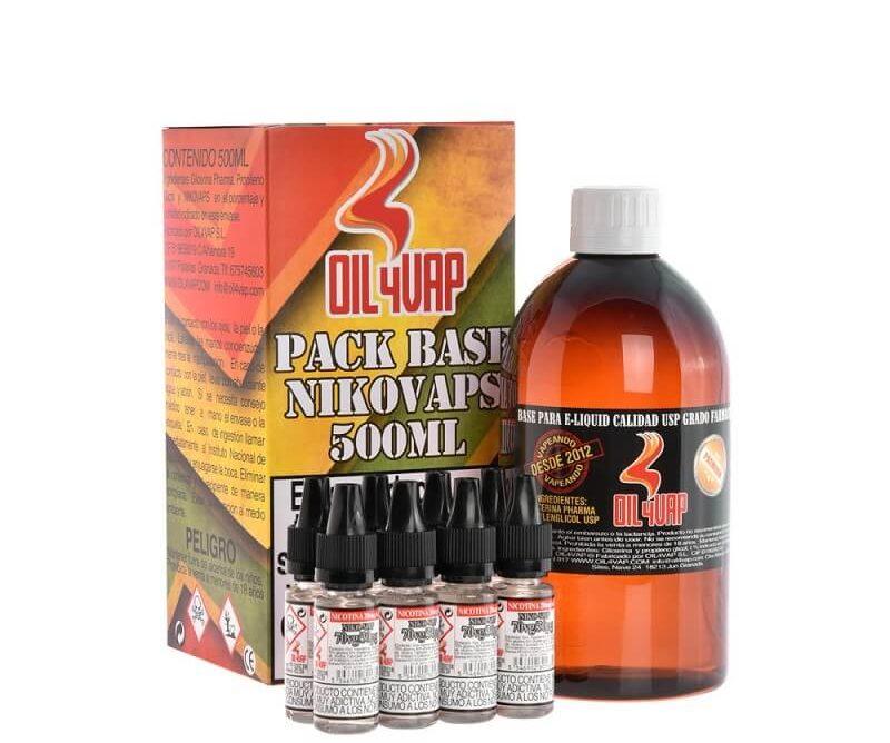 Pack Base + NicoKits OIL4Vap 6mg 500ml