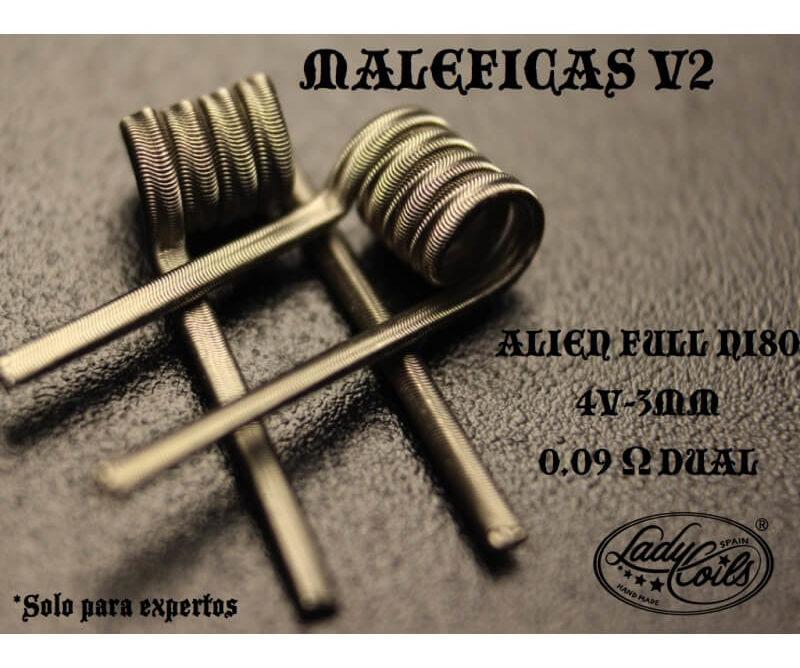 MALEFICA V2 0.09/ 0.18 ohms - LADY COILS