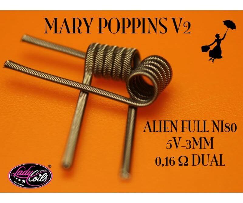MARY POPPINS V2 0.16/ 0.32 ohms - LADY COILS