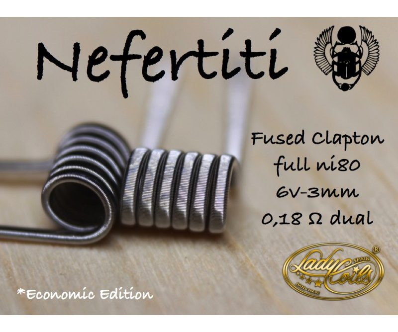 NEFERTITI 0.18/ 0.36 ohms - LADY COILS