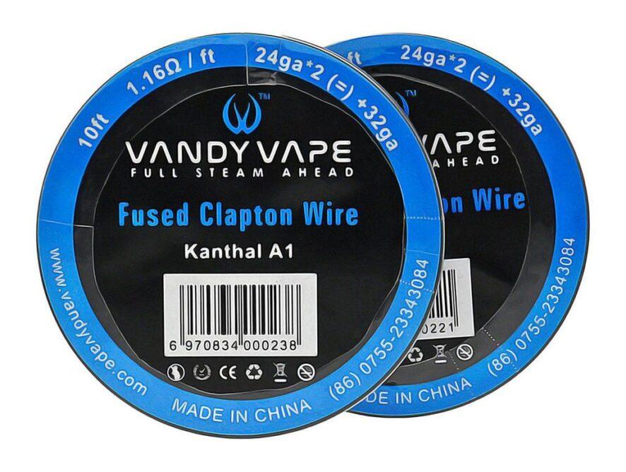 SS316L SS Fused Clapton Wire 24ga*2(=) 32ga 10ft - VANDY VAPE