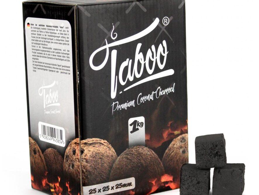 TABOO PREMIUM COCONUT CHARCOAL 1KG