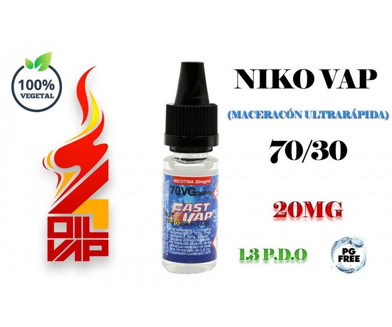 NICO-VAP FAST4VAP 70/30PDO 20MG OIL4VAP