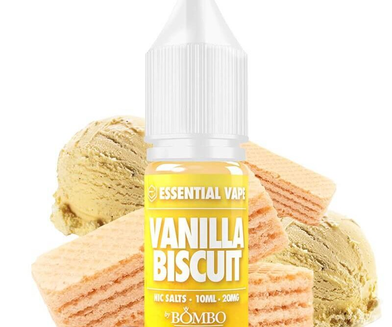VANILLA BISCUIT - ESSENTIAL VAPE by BOMBO SALTS 10MG